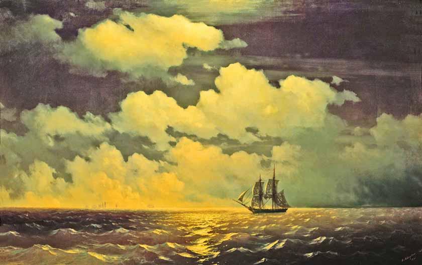 Как айвазовский рисовал свои картины